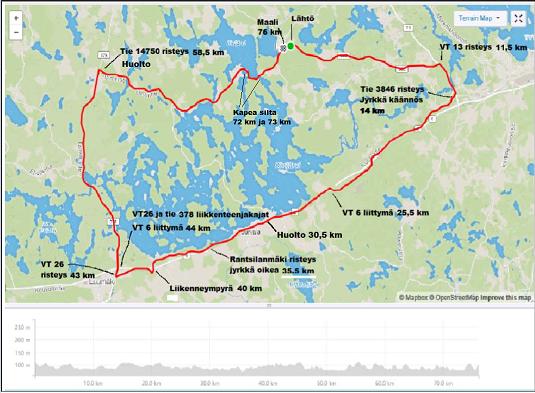 Kalevan kierroksen pyöräily 17.8.2019